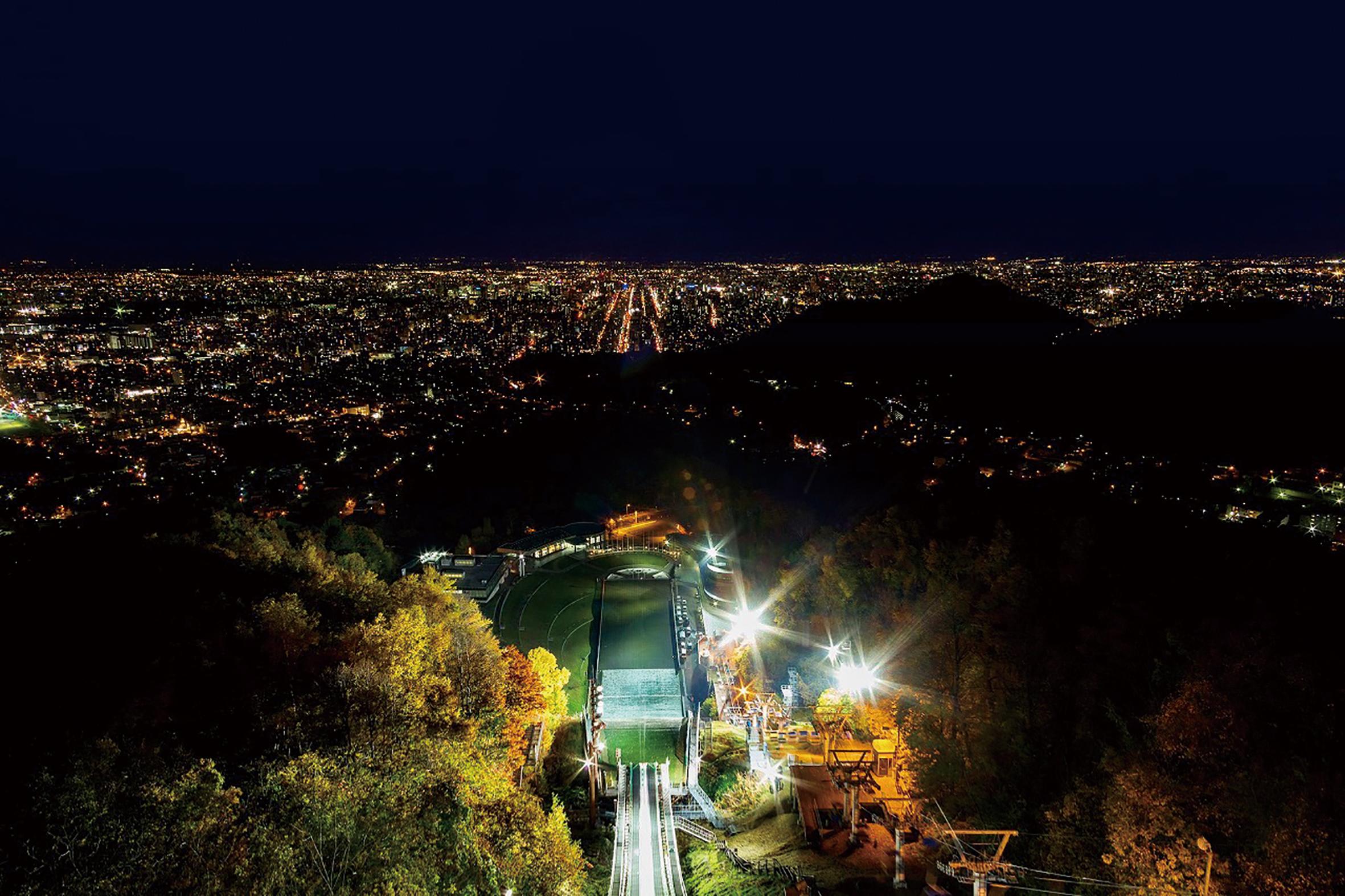 札幌大倉山展望台からの夜景